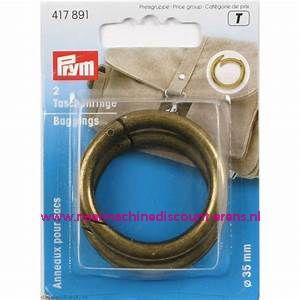 """Zelfsluitende Ringen voor tassen """"brons"""" 35 Mm prym art.nr. 417891"""