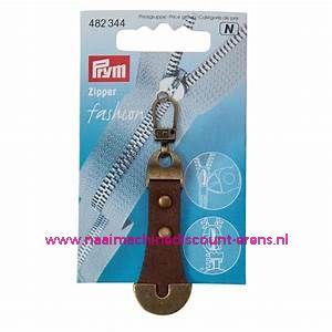 "Fashion Zipper leder imitatie ""bruin-brons"" prym art.nr. 482344"