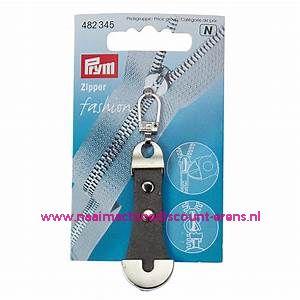 "Fashion Zipper leder imitatie ""grijs-zilver"" prym art.nr. 482345"