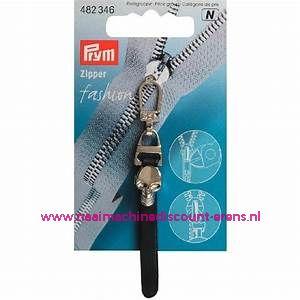 "Fashion Zipper leder imitatie zwart ""doodskop"" prym art.nr. 482346"