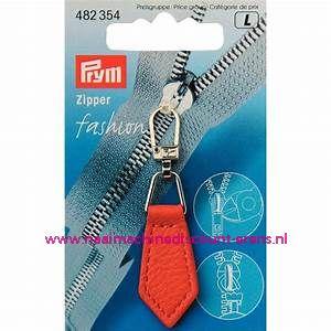 "Fashion Zipper leder imitatie ""Oranje"" prym art.nr. 482354"