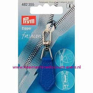 "Fashion Zipper leder imitatie ""Kobalt"" prym art.nr. 482355"