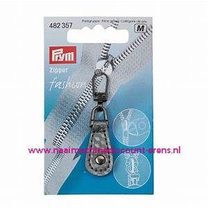 "Fashion Zipper leder imitatie ""grijs geblokt"" prym art.nr. 482357"