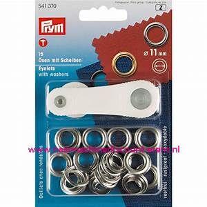 Ringen met Schijven 11 Mm 15 stuks Zilverkleurig Prym art.nr. 541370