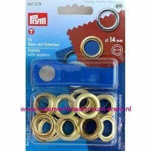 Ringen met Schijven 14 Mm 10 stuks Goudkleurig Prym art.nr. 541373
