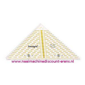 OMNIGRID/PRYM Driehoek liniaal Triangle 1/4 Square tot max 20 Cm prym art.nr. 611313