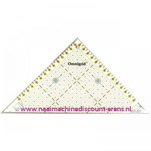OMNIGRID/PRYM Driehoek liniaal Triangle 1/2 Square tot max 15 Cm prym art.nr. 611314