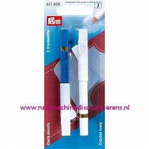 Krijtpotloden Wit/Blauw Prym art. nr. 611626