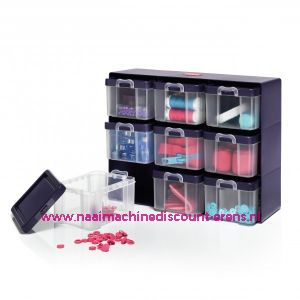 Organizer box with 9 boxes Prym art. nr. 612399