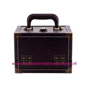 Koffer lederimitatie bruin Prym art. nr. 612831