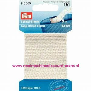 Lingerie Elastiek 3,5 Mm 5 meter Wit Prym art.nr. 910360