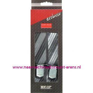 MEN'S CLIP EXCLUSIEF 120CM 35MM GRIJS-ZWART prym. art.nr. 944300