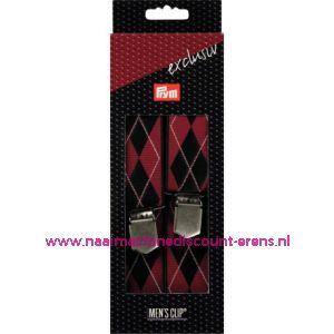 MEN'S CLIP EXCLUSIEF 120CM 35MM ROOD-ZWART prym. art.nr. 944363