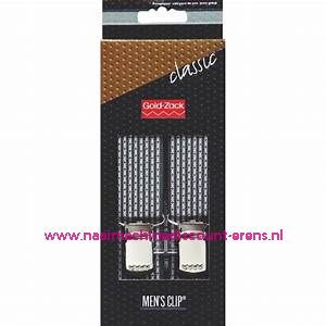 Men Clips Standaard 125 Cm 30 Mm donker grijs-rood gestipt prym art.nr. 944907
