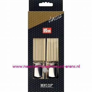 Men Clips Standaard 125 Cm 30 Mm beige gestreept prym art.nr. 944926