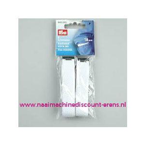 Mouwophouders elastiek stof wit 18 Mm prym art.nr. 948040