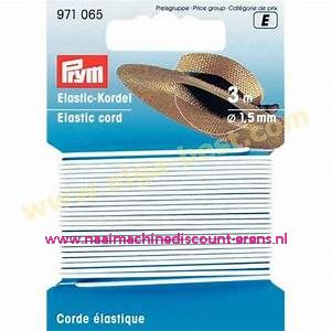Elastiek Koord 1,5 Mm 3 meter Wit prym art.nr. 971065