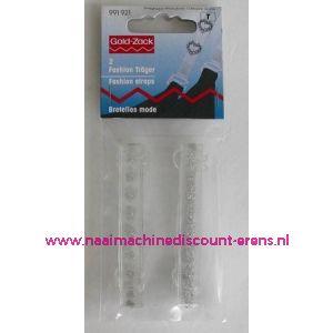 BH-Schouderband doorschijnend strass steen art. 991921