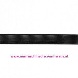 Baleinenband 6mm rigiband zwart
