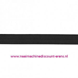 Baleinenband 12 mm rigiband zwart