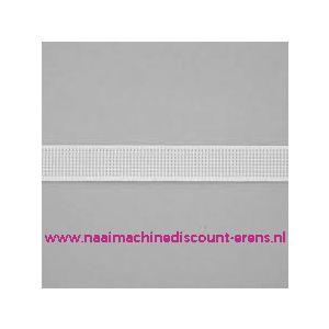 Baleinenband 12 mm rigiband wit