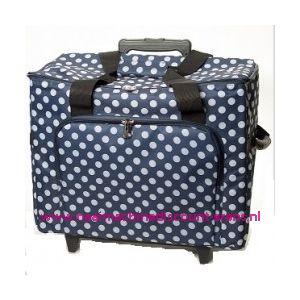 Mobiele koffer polkadot dessin blauw art. nr. 4680-340015