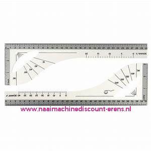 Coupeuse Liniaal / Tekenhaak Klein 30 Cm