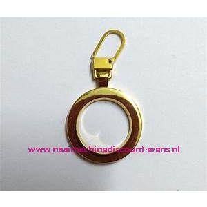 """Modische Schuiver """"metaal ring goud 50mm"""" UNION KNOPF art.nr. 58361"""